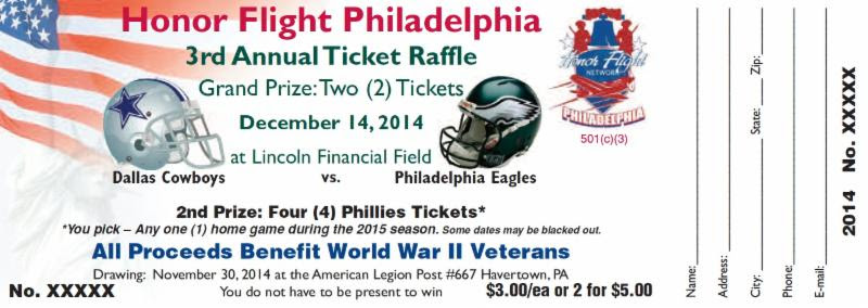 Eagles Ticket Winner Rudolph F. from Quakertown, PA